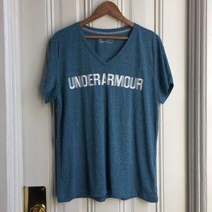 Under Armour Green Threadborne HeatGear Shirt
